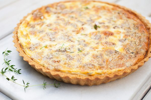 Stilton & Walnut Quiche